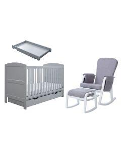ickle bubba Coleby Classic Grey Sleep, Feed & Change 6 Piece Bundle (Grey Chair)