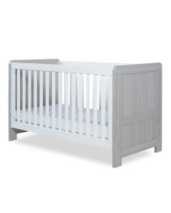 ickle bubba Pembrey Cot Bed - Ash Grey and White