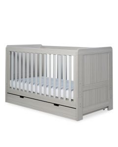 ickle bubba Pembrey Cot Bed and Under Drawer - Ash Grey
