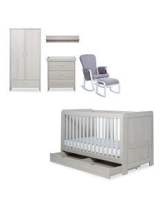 ickle bubba Pembrey 8 Piece Furniture Bundle - Ash Grey