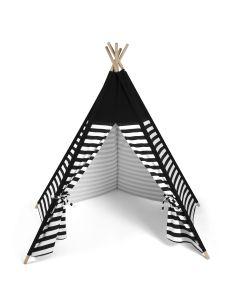 Snuz Kids Teepee Play Tent - Black Stripe