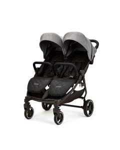 Ickle Bubba Venus Double Stroller - Black/Space Grey/Black