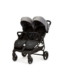 Ickle Bubba Venus Max Double Stroller - Black/Space Grey/Black