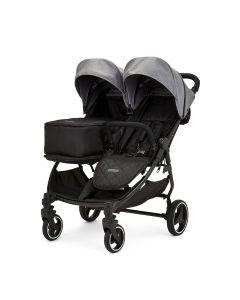 Ickle Bubba Venus Prime Double Stroller - Black/Space Grey/Black