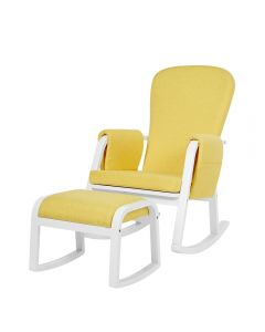 Ickle Bubba Dursley Rocking Chair and Stool - Sunshine