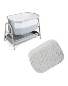 ickle bubba Bubba&Me Plus Bedside Crib - Ash Grey