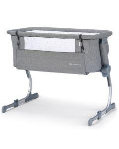 Kinderkraft Uno Up Bedside Crib - Grey