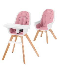 Kinderkraft Tixi 2 in 1 Highchair - Pink