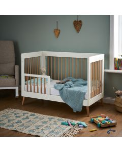 Obaby Maya Mini Cot Bed - White with Natural