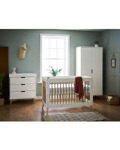 Obaby Maya Mini 3 Piece Room Set - White with Natural