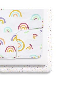 Snüz 3pc Crib Bedding Set - Colour Rainbow