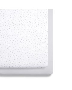 Snüz Crib 2 Pack Fitted Sheets - Grey Spots