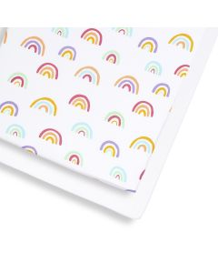 Snuz Cot & Cot Bed 2 Pack Fitted Sheet - Colour Rainbow