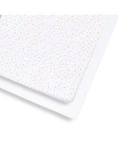 Snuz Cot & Cot Bed 2 Pack Fitted Sheet - Colour Spots