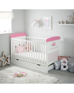 Obaby Grace Inspire Cot Bed & Underdrawer - Little Princess