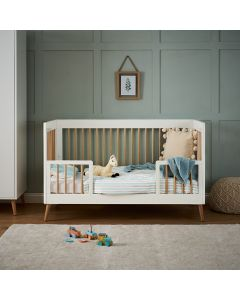 Obaby Maya Cot Bed - White with Natural