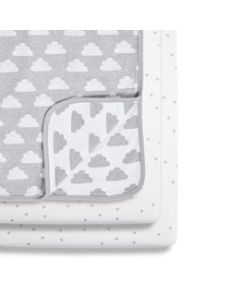 Snüz Crib 2 Pack Fitted Sheets - Cloud Nine