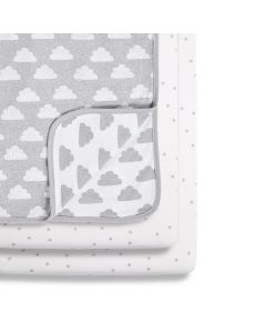 Snüz 3pc Crib Bedding Set - Cloud Nine