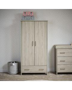 Obaby Nika Double Wardrobe - Grey Wash