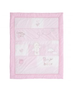 Obaby B is for Bear Quilt & Bumper Set Pink