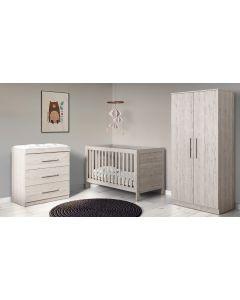 ickle bubba Grantham 3 Piece Furniture Set Grey Oak