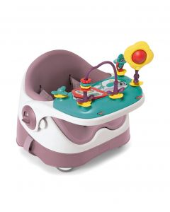 Mamas & Papas Baby Bud Booster Seat & Play Tray - Dusky Rose