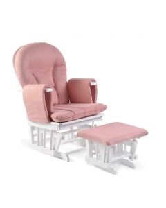 ickle bubba Alford Glider Chair and Stool - Blush Pink