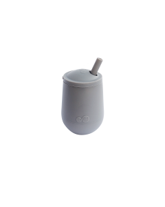 EZPZ Mini Cup & Straw - Pewter