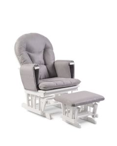 ickle bubba Alford Glider Chair and Stool Grey