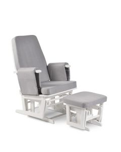 ickle bubba Bilsby Glider Chair and Stool - White/Grey