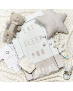 Obaby Changing Mat - Eat Sleep Repeat Grey