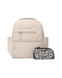 Petunia Pickle Bottom Ace Backpack - Ivory Matte Leatherette
