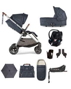 Mamas & Papas Flip XT3 Pushchair 9 Piece Aton 5 Complete Kit - Navy Flannel