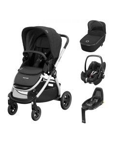 Maxi Cosi Adorra Pushchair & Pebble Pro Travel System - Essential Black