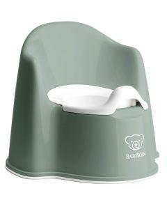 BabyBjorn Potty Chair - Deep Green/White