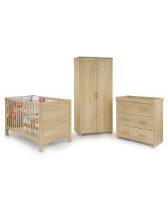 BabyStyle Monaco 3 Piece Room Set - Oak