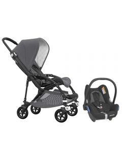 Bugaboo Bee5 Classic Pushchair Grey Melange and Maxi Cosi CabrioFix Car Seat