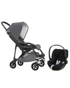 Bugaboo Bee5 Classic Pushchair Grey Melange and Cybex Cloud Z Car Seat
