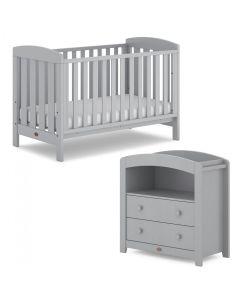 Boori Alice 2 Piece Room Set (Cot Bed & Changer) Pebble