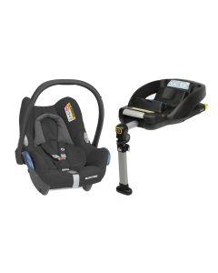 Maxi Cosi CabrioFix Car Seat & Easyfix Base - Essential Black