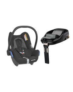 Maxi Cosi CabrioFix Car Seat & Familyfix Base - Essential Black