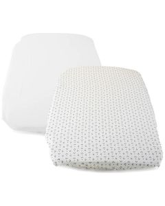 Chicco Next2Me Forever 2 Pack Fitted Sheets - Panda