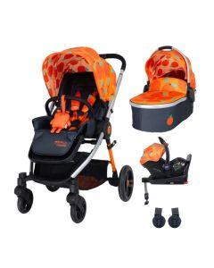 Cosatto Wowee Car Seat and I-SIZE Base Bundle - So Orangey