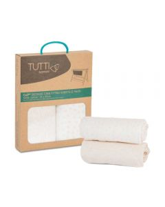 Tutti Bambini CoZee Fitted Sheets (2 Pack) - Pink/Rose