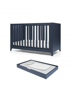 Mamas & Papas Melfi Cot Bed with Cot Top Changer - Midnight Blue