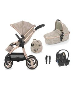 egg Special Edition Pushchair, Carrycot Camo Sand and Maxi Cosi CabrioFix Car Seat