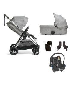 Mamas & Papas Flip XT3 Pushchair 5 Piece Maxi Cosi Cabriofix Bundle - Skyline Grey