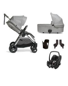Mamas & Papas Flip XT3 Pushchair 5 Piece Maxi Cosi Pebble Pro Bundle - Skyline Grey