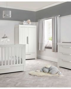 Mamas & Papas Franklin 3 Piece Cot Bed Range - White Wash