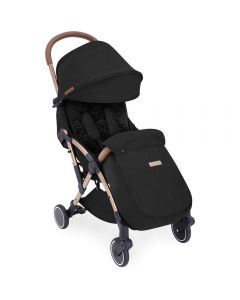 ickle bubba Globe Max Stroller Black on Rose Gold